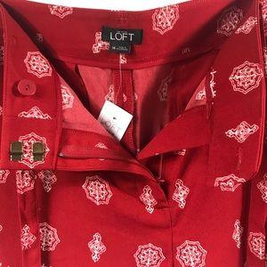 LOFT Shorts - Ann Taylor LOFT Red & White Floral Print Shorts